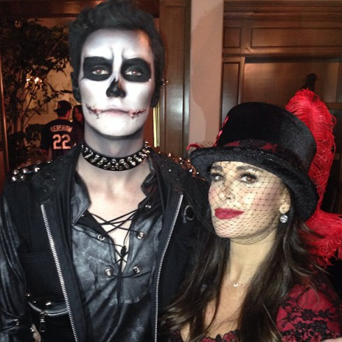 Barron Hilton and Aunt Kyle Richards Halloween costumes 2013