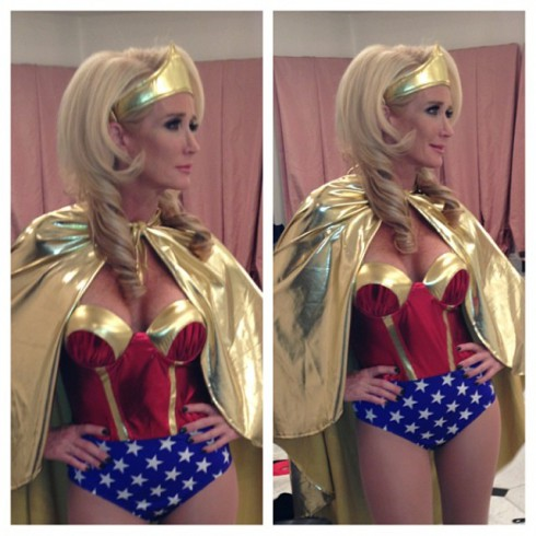 RHOBH Kim Richards wearing a Wonder Woman Halloween costume 2013