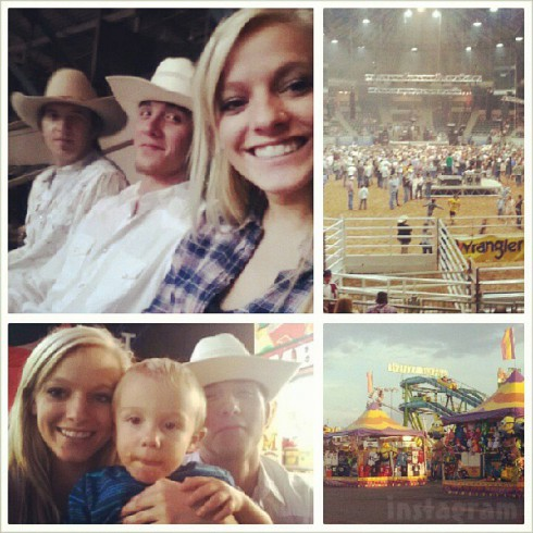Teen Mom 3 Mackenzie McKee and husband Josh McKee at the rodeo