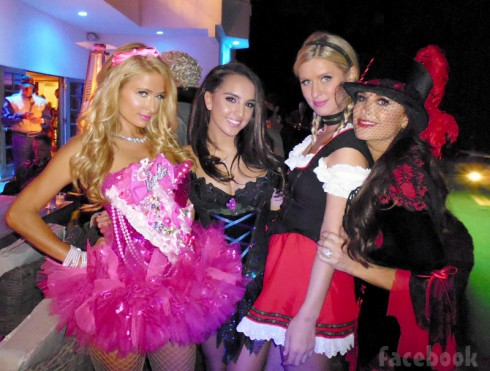 Paris Hilton Alexia Umansky Nicky Hilton Kyle Richards Halloween costume party 2013