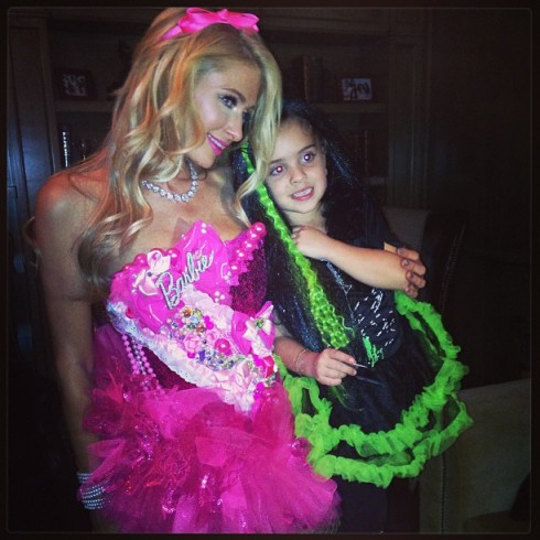Kyle Richards' daughter Portia Umansky and cousin Paris Hilton Halloween costumes 2013