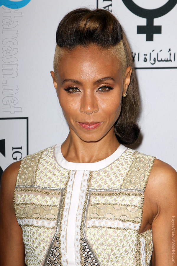 PHOTOS Jada Pinkett Smith's new shaved hair at Equality Now red carpet ...
