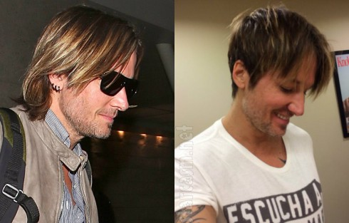 Keith Urban Before and After Haircut