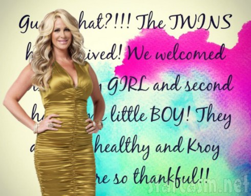 Kim Zolciak Twin Baby Announcement