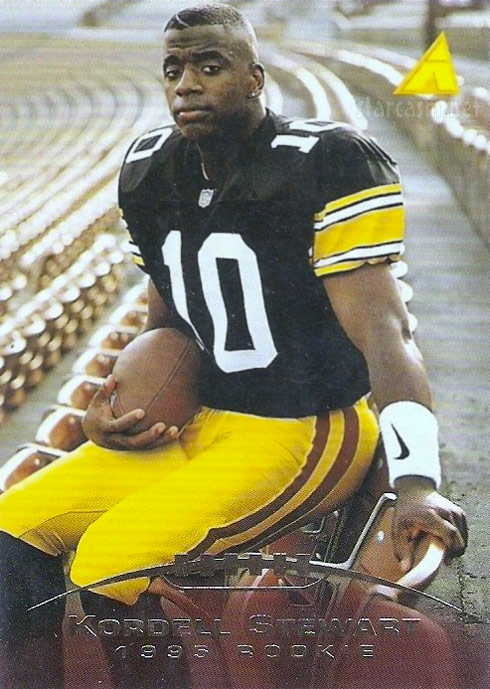 Kordell Stewart Pittsburgh Steelers rookie card Pinnacle