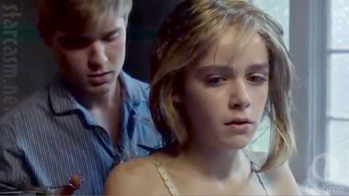 2014 Flowers in the Attic remake Mason Dye and Kiernan Shipka as Chris and Cathy Dollanganger