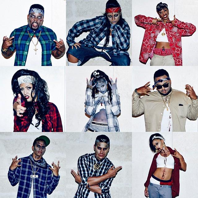 """PHOTOS Rihanna as """"chola"""" gangsta zombie for Halloween"""