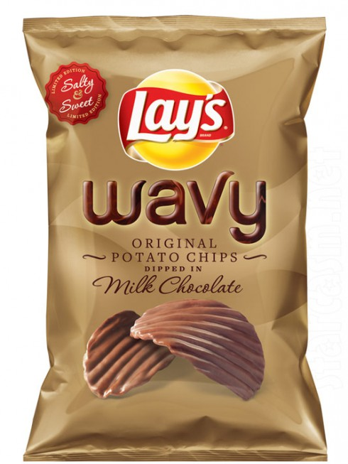... -Lay introduces chocolate-covered Lay's potato chips for Christmas