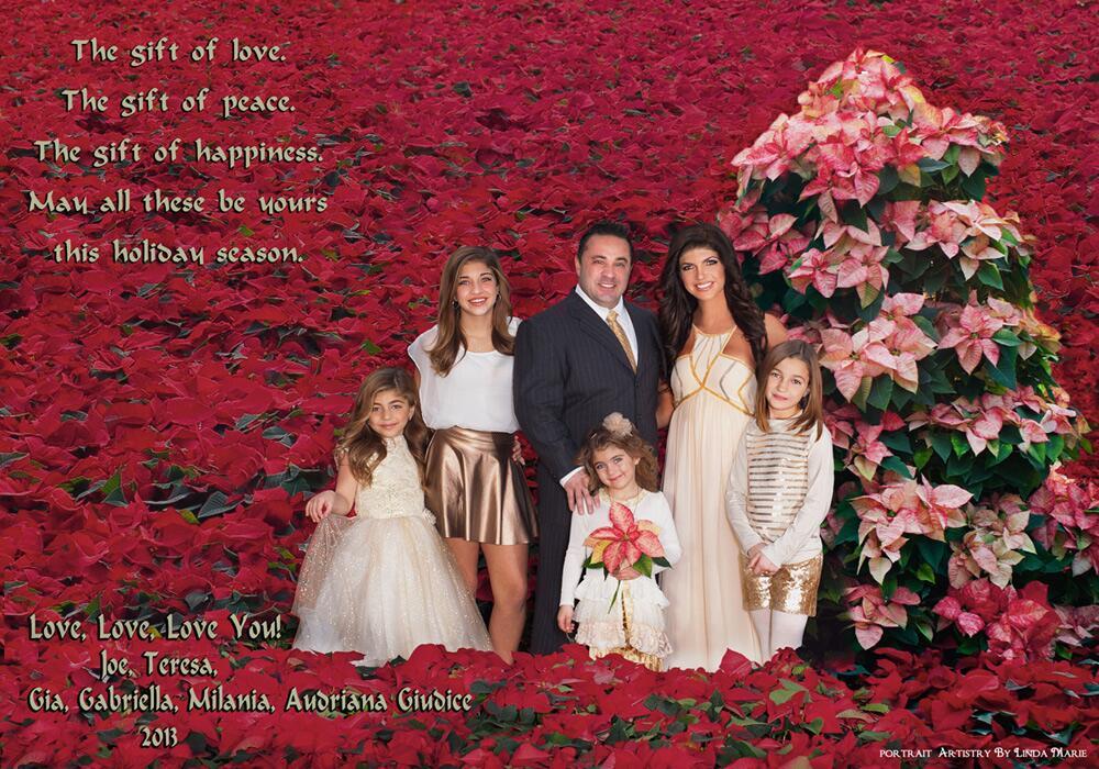 Photos teresa giudice shares 2013 giudice family christmas card