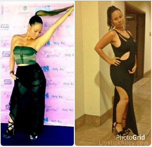 Aja Metoyer baby bump photo