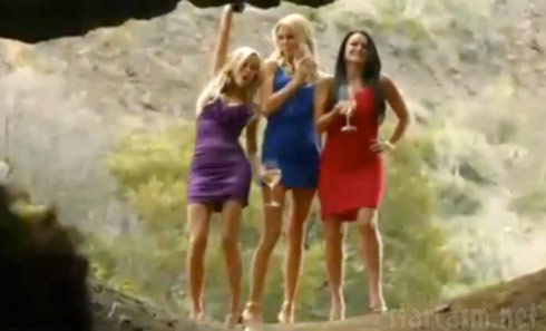 Real Housewives of Beverly Hills Camille Grammer Brandi Glanville and Kyle Richards in The Hungover Games