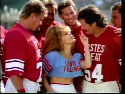She appeared in a number of ads including these monday night football