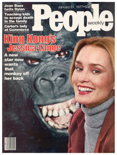 People- January 31 1977 Cover - King Kong's Jessica Lange