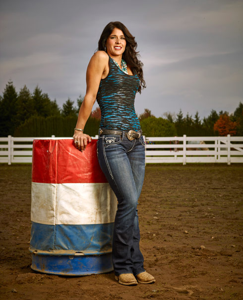 Rodeo Girls Marvel Murphy barrel racer