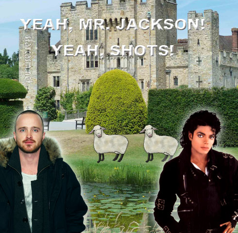 Aaron-Paul-and-Michael-Jackson