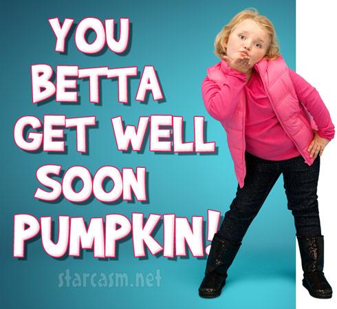 Honey Boo Boo Get well soon Pumpkin 490 PHOTOS Mama June updates Honey Boo Boos sister Pumpkins condition after car wreck