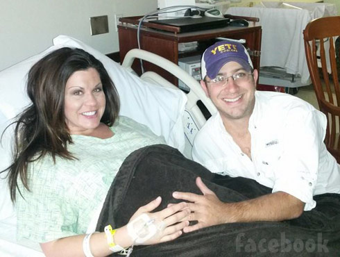 Pregnant Jennifer Brennan iance Todd delivery room