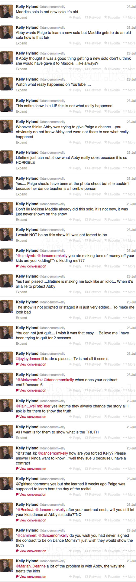 Dance Moms Kelly Hyland Abby Lee Miller Twitter attack