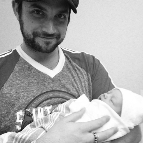 Kirsten Storms - Dad and Baby
