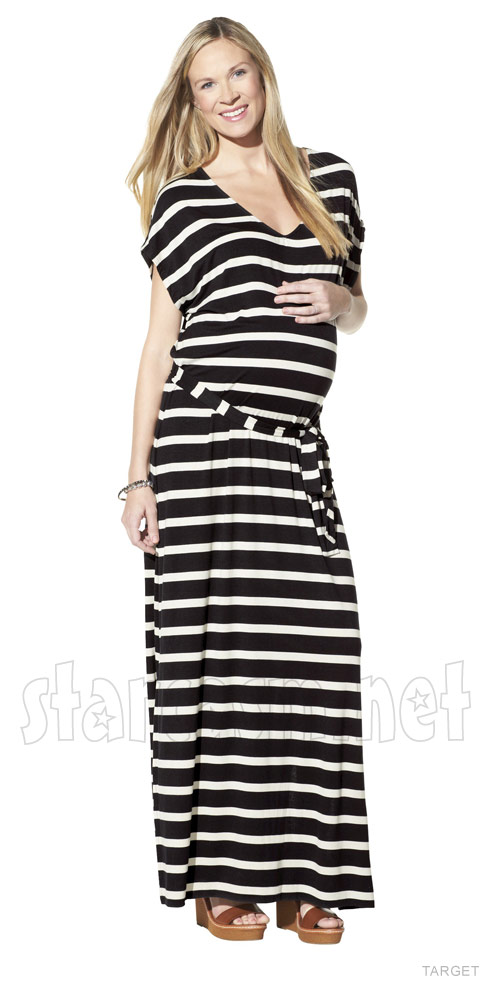 Target uses thin pregnant model full-size dress marketing