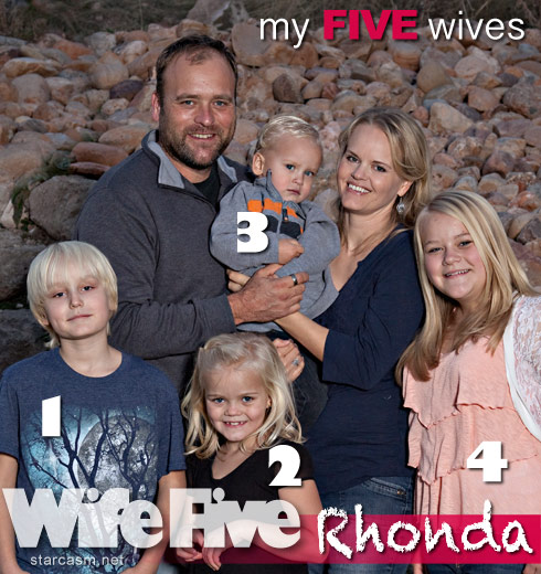 My Five Wives Brady Williams and his fifth wife Rhonda family photo with their children Lake Arwen Nikolas Eden