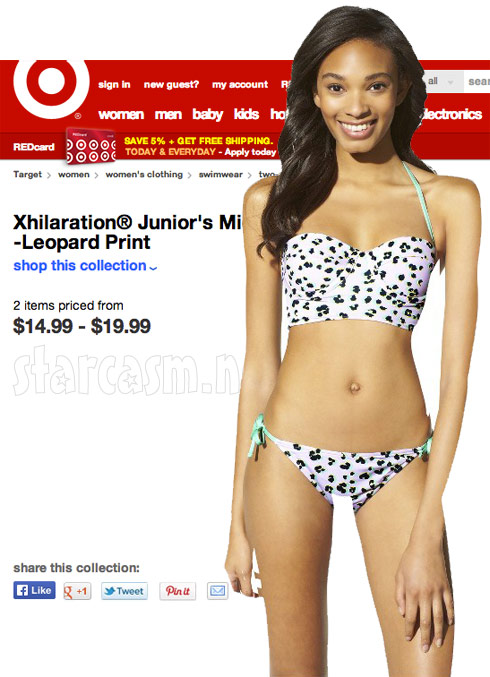 PHOTOS Epic Photoshop fail on Target bikini listing creates scary ...