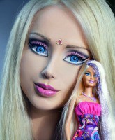 Human Barbie with Barbie Feature