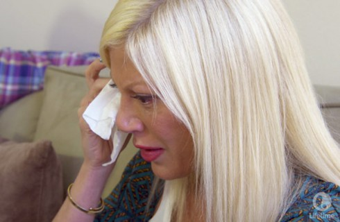 True Tori Spelling crying