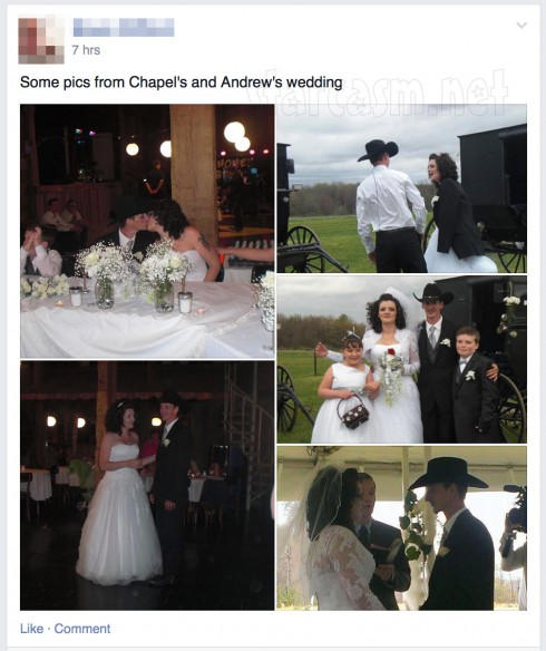 Breaking Amish Andrew Schmucker Chapel Peace wedding photos Facebook