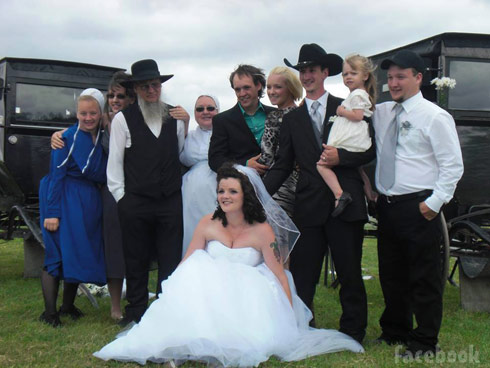 Breaking Amish Return To Amish Andrew Schmucker Chapel Peace wedding photo