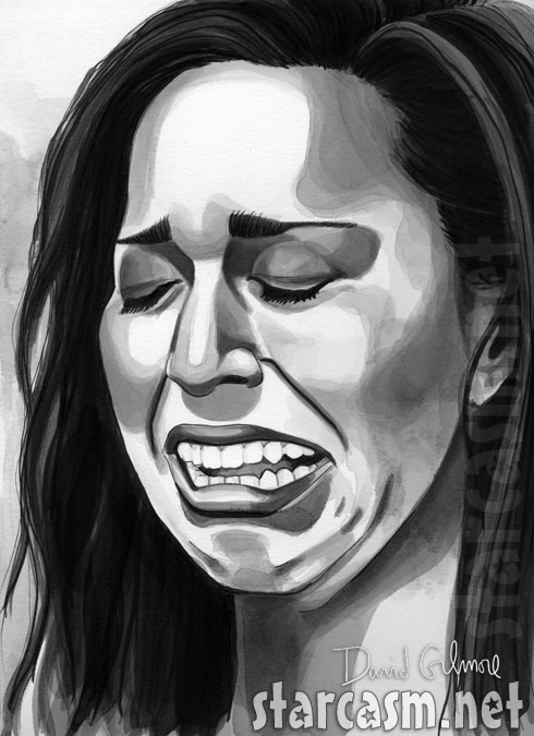 Farrah Abraham cry face drawing