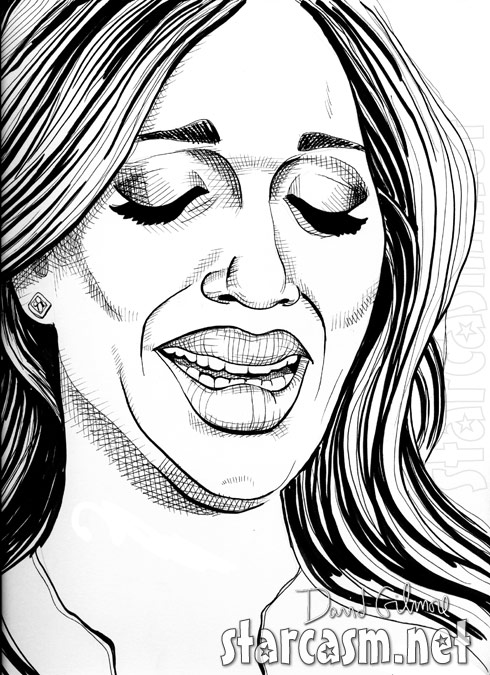 Farrah Abraham crying drawing by David Gilmore of Pretty on the Outside