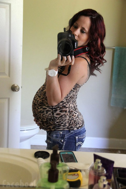 Jenelle Evans pregnant selfie May 16 2014