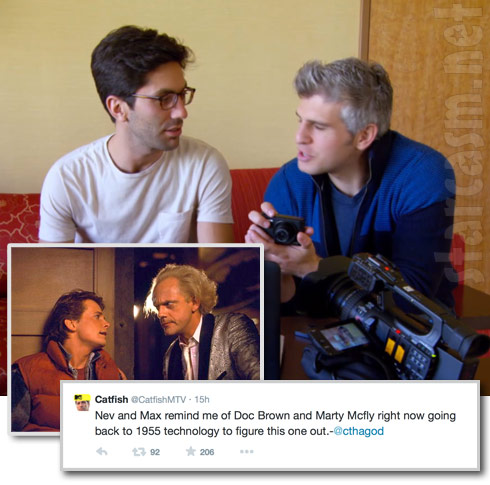 Catfish Nev Schullman and  Max Joseph are like Marty McFly and Doc Brown from Back to the Future