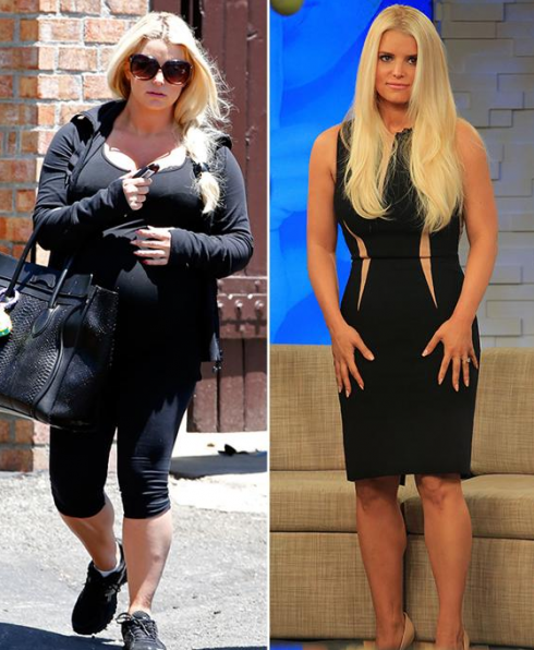 Jessica Simpson Keeps The Weight Off: Jessica Simpson Says Her Fluctuating Weight Helped Her