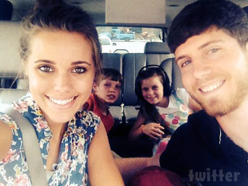 Ben Seewald and Jessa Duggar with Justin and ohannah