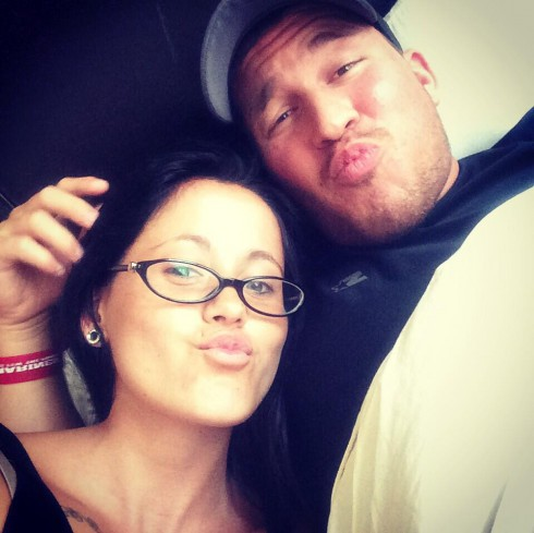 Jenelle Evans and Nathan Griffith duckfaces
