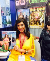 Farrah Abraham at Girls and Corpses booth 2014 San Diego Comic-Con