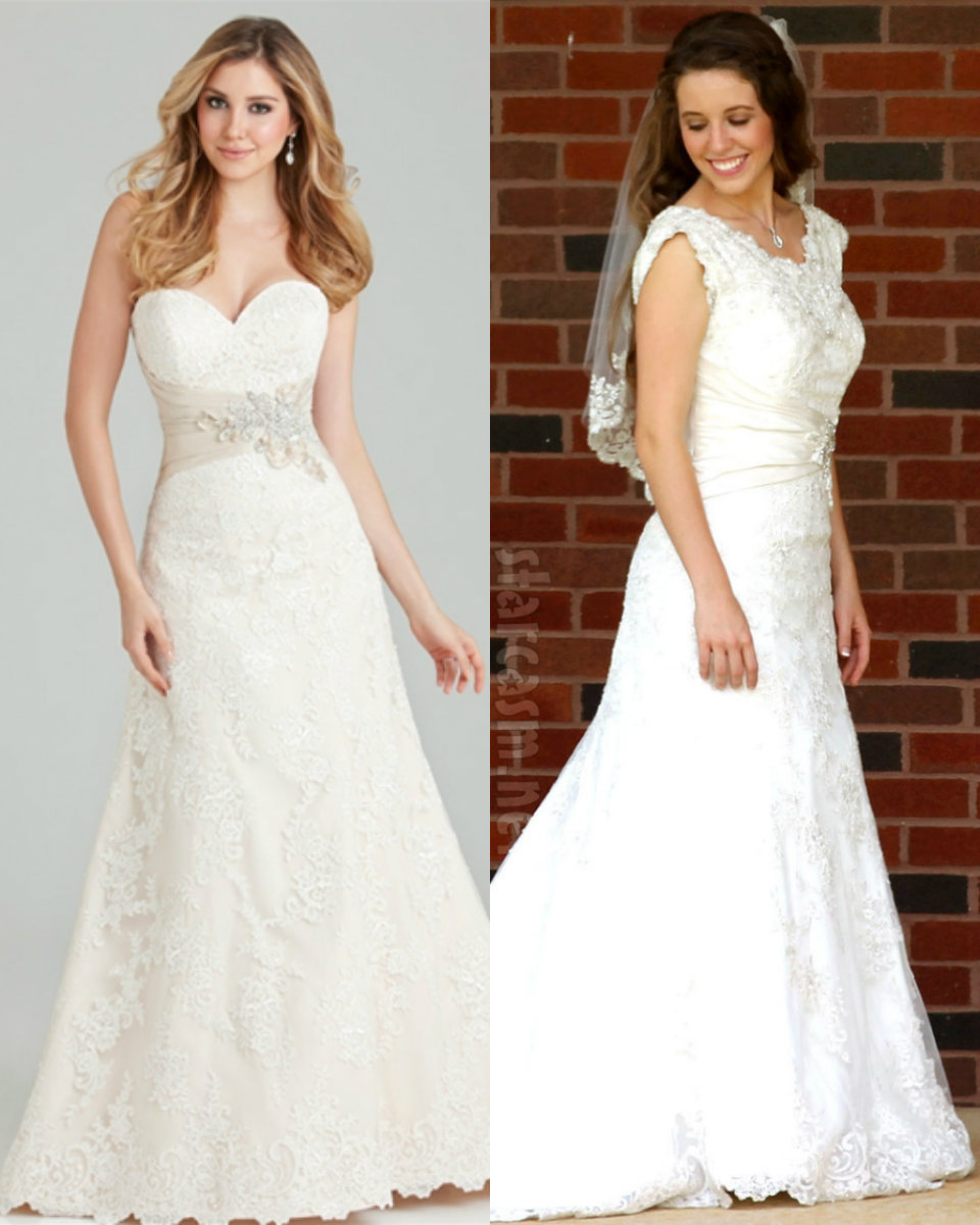 BEFORE Amp AFTER How Jill Dillards Wedding Dress Was Altered For Modesty