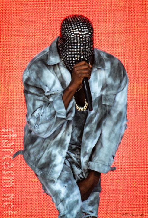 Kanye West mask concert