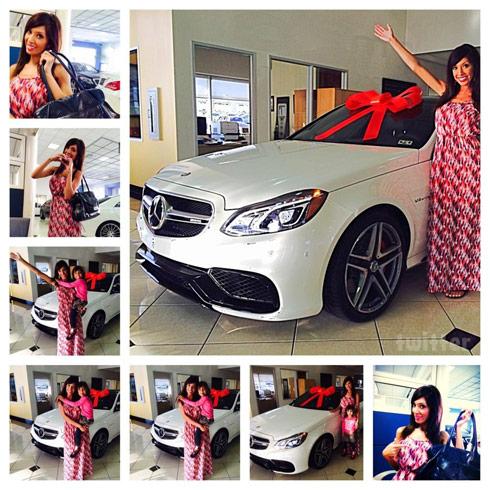 Farrah Abraham's new Mercedes 2014