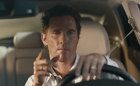 videos matthew mcconaughey will convince you to buy a lincoln. Black Bedroom Furniture Sets. Home Design Ideas