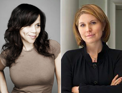 Actress rosie perez and political commentator nicolle wallace have