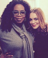 Lindsay Lohan and Oprah Feature