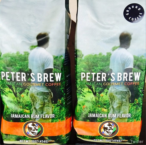 Peter Thomas Peter's Brew Jamaican coffee bags