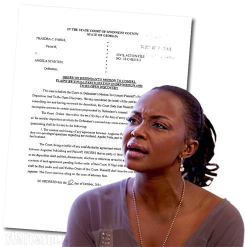 Phaedra Parks ordered by judge to sit for a 2nd deposition, reveal what she knows about Apollo Nida's crimes
