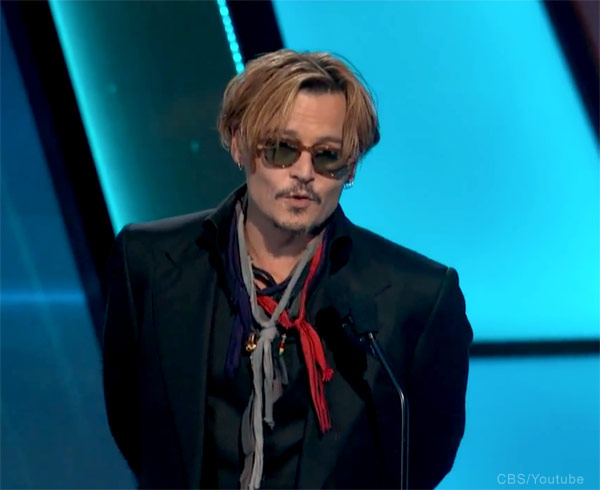 Johnny Depp drunk Hollywood Film Awards