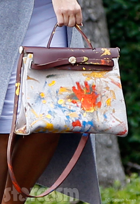 hermes bag painted by north west
