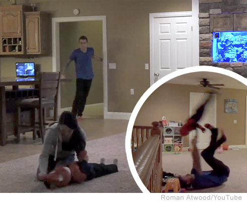Roman Atwood pranks wife, throws child over a balcony in Youtube video