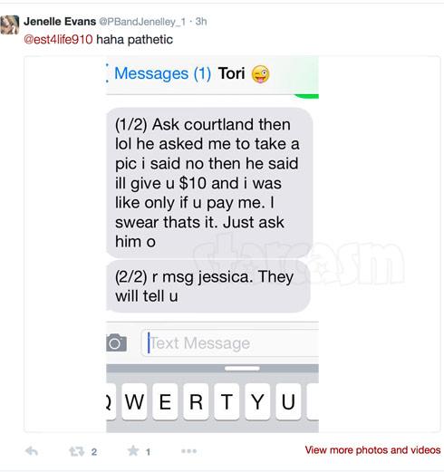 Jenelle Tori Courtland text